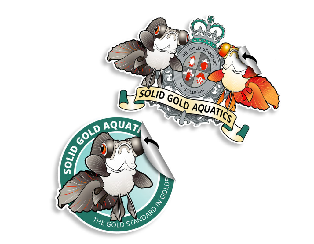 solid gold aquatics stickers
