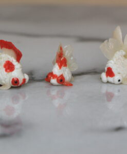 hand sculpted polymer clay goldfish